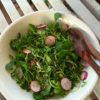 Watercress, radish and edamame salad