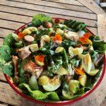 Barbecued Salmon and Potato Salad
